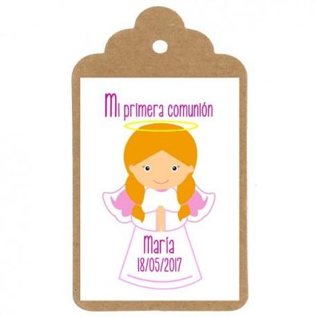 Etiqueta comunión nº6: ANGELITO NIÑA