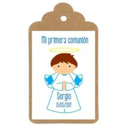 diseño comunion Angelito niño para regalar