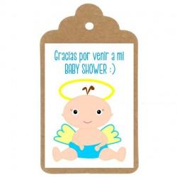 Etiqueta Baby Shower nº3: ANGELITO CHICO