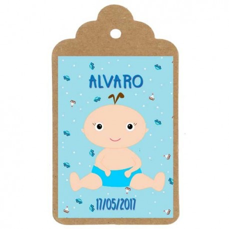 Etiqueta bautizo nº6: Angelito niño