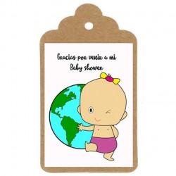 ETIQUETA BABY SHOWER Nº2: BIENVENIDA AL MUNDO