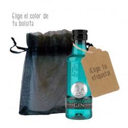 Mini botella ginebra Puerto de Indias Classic azul para regalo