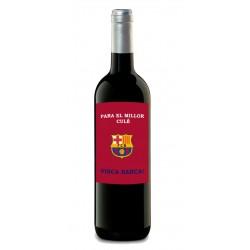 Botella vino FC Barcelona futbol