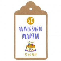 ETIQUETA Nº8: Tarta aniversario cumpleaños
