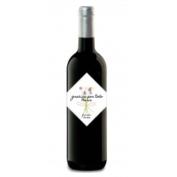 "Botella vino ""GRACIAS POR TODO"""