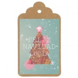 "ETIQUETA NAVIDAD Nº3: ""Feliz Navidad"""