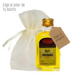 Miniatura licor de hierbas Panizo personalizada