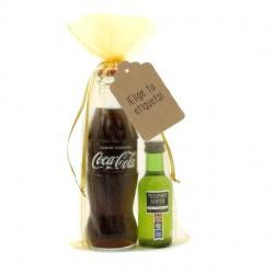 Whisky Passport y Coca-cola para regalar en bodas kit whisky cola