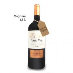 Botella Magnum vino Puerta Vieja Crianza Selección