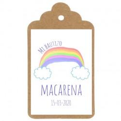 Etiqueta nº16 bautizo arcoiris detalle para invitados