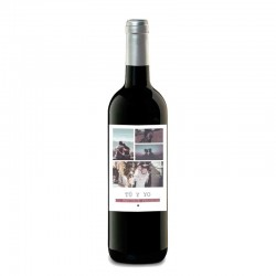 """Botella vino """"EL MARIDAJE PERFECTO"""""""