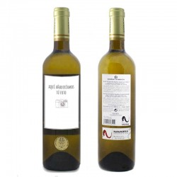 Botella de vino blanco Inurrieta Orchidea personalizada