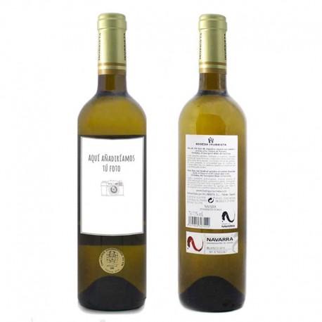 Botella de vino blanco Inurrieta personalizado