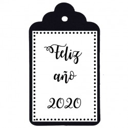 feliz año 2020 etiqueta navidad
