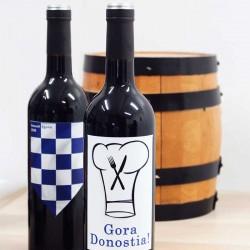 """Botella vino """"DONOSTIA EGUNA"""""""