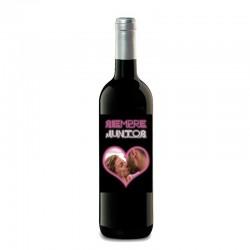 Botella vino personalizado para regalar en San valentín