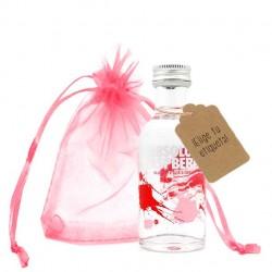 Mini vodka Absolut Raspberri con etiqueta personalizada y bolsita