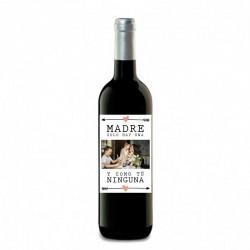 """Botella vino """"DÍA DE LA MADRE"""""""