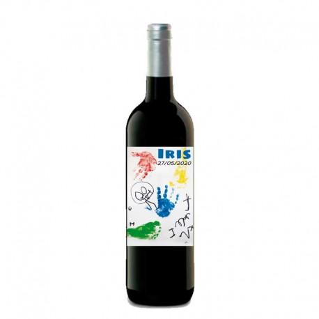 """Botella vino tinto """"DIBUJO"""""""