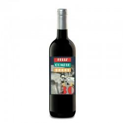 Botella vino tinto personalizada para cumpleaños