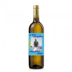 """Botella vino """"QUE CUMPLAS MUCHOS MÁS"""""""