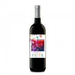 """botella de vino """"fiesta de cumpleaños"""""""