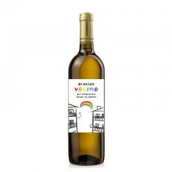 "Botella vino ""GRACIAS VECINO"""