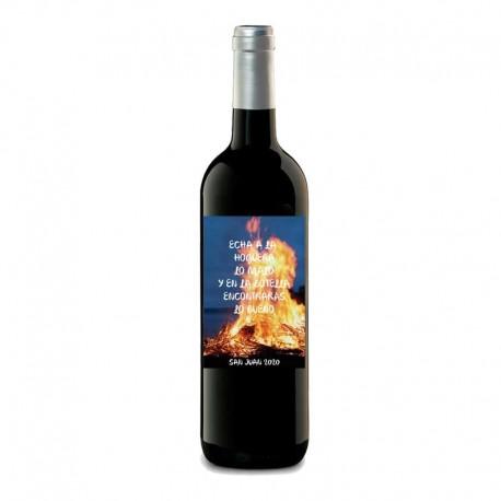 "Botella vino ""Hoguera de San Juan"""