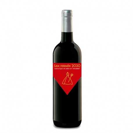 "Botella vino ""SAN FERMÍN PAÑUELO"" tinto"