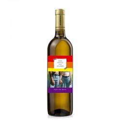 Botella de vino blanco para el Orgullo