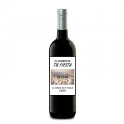 "Botella vino tinto ""TU FIESTA"""