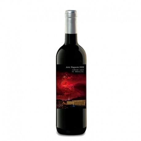 "Botella vino tinto ""FUEGOS SEMANA GRANDE"""