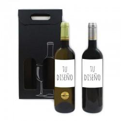 Estuche de vino blanco y tinto personalizados