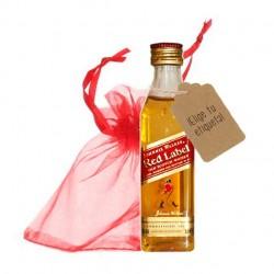 Botellita whisky Johnnie Walker bolsa roja