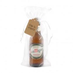 Cerveza San Miguel con etiqueta personalizada