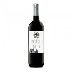 Botella vino TESTIGO BODA