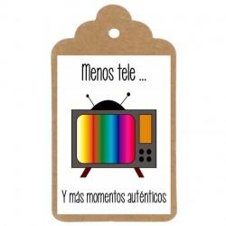 """Etiqueta divertida nº3: """"MENOS TELE"""""""