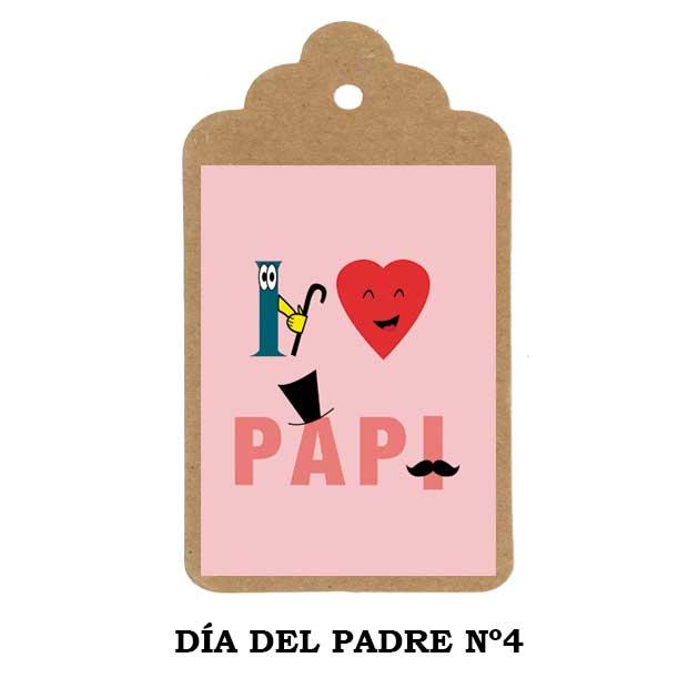 Regalos Día del Padre - etiqueta personalizada Nº4