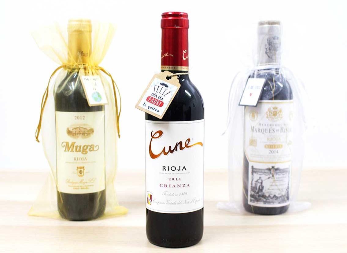 Botellas de vino pequeñas para personalizar y regalar a tu padre