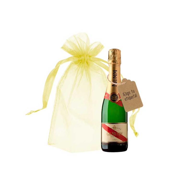 champagne mumm rouge botellita personalizada