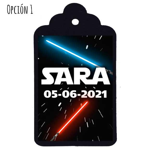 Etiqueta Comunión Star Wars
