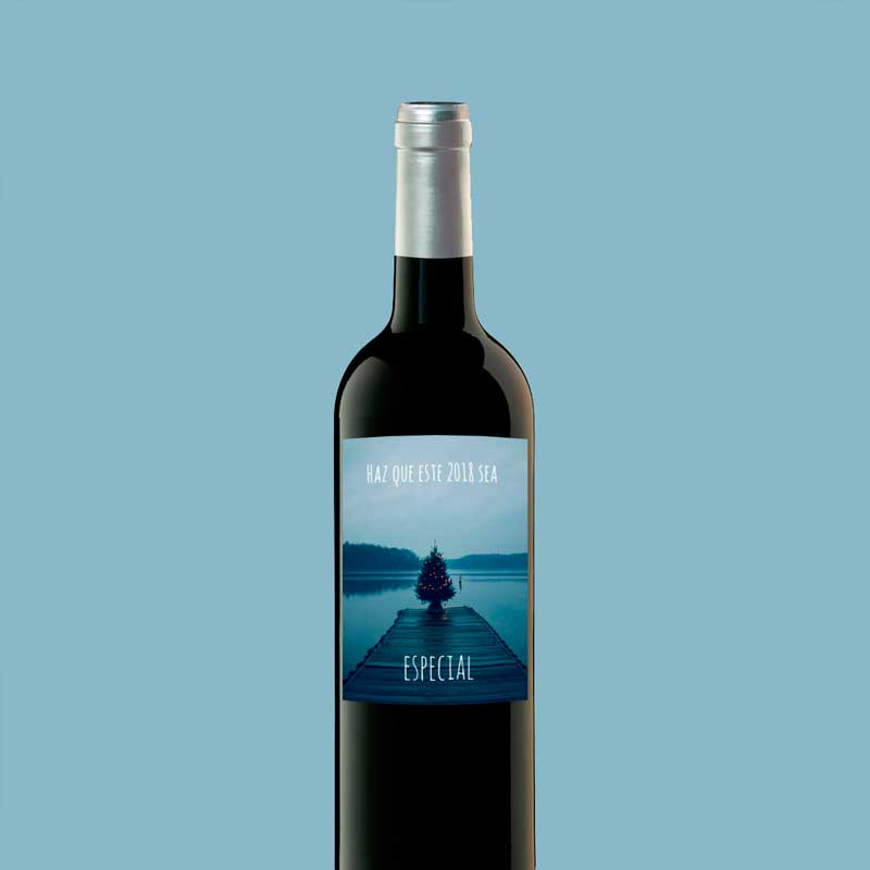 Botella de vino personalizada mensaje
