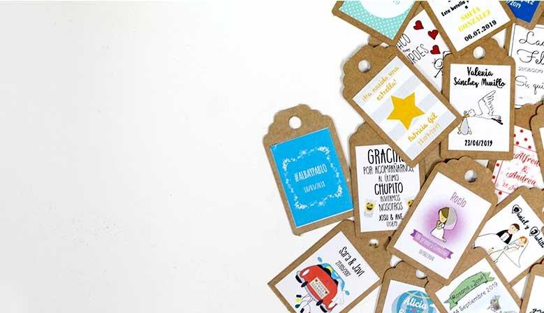 Etiquetas personalizadas de celebración